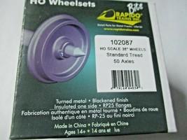 "Rapido # 102087 Wheels Metal 36"" (Code 110) Length 1.015""  50 Pack HO Scale image 2"