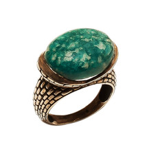 Ring 925 Sterling Silver Turquoise Beautiful India Jewelry Vintage  MB415DP - $147.47
