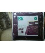 Room Essentials Purple Floral Twin 6 Piece Student College Dorm Bedding ... - $47.50
