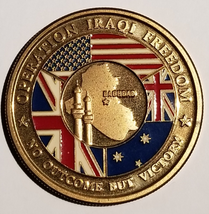 Us Army Oif Operation Iraqi Freedom Baghdad No Outcome But Victory 1.5 Coin - $29.69