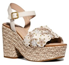 Coach Jae Leather Peep Toe Casual Ankle Strap Sandals Size 5 - $247.50