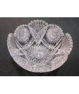 American Brilliant Period hand Cut Glass ice tub bowl Antique gift - $83.22