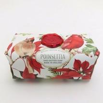 Michel Design Works Christmas Poinsettia 8.7oz Artisanal Bar Shea Butter Soap - $11.88