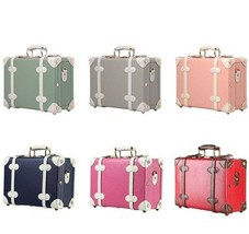 Women Vintage Trunk Luggage Waterproof Decorative Suitcase Small Floral ... - $170.04