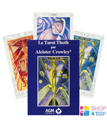 LE TAROT THOTH DE LUXE ALEISTER CROWLEY FRENCH EDITION DECK CARDS AGM UR... - $34.18