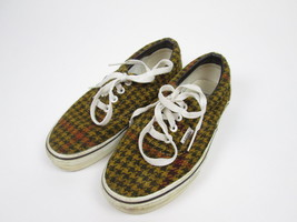 Vans Tweed Limited Edition Rare Houndstooth Style Tan Youth Mens 4 Women... - $19.64