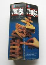 JENGA Balancing Game 1986 Milton Bradley Wood Blocks Complete in Box Vin... - $6.83