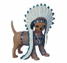 Chihuahua figurine Anthropomorphic Hamilton collection native puppy dog ... - $59.35