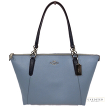 COACH Ava Exotic Trim Tote, Cornflower - $189.00