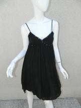 Free People Initimately Dress Black Tulle Sequins Chemise Sz 2 - $23.24
