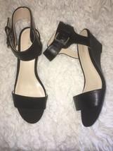 NINE WEST Pepperman Black Ankle Med Wedge Sandals Shoes sz sz 8 - €60,68 EUR