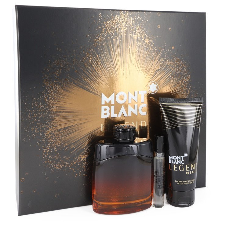 Amont blanc montblanc legend night 3.4 oz cologne mini set