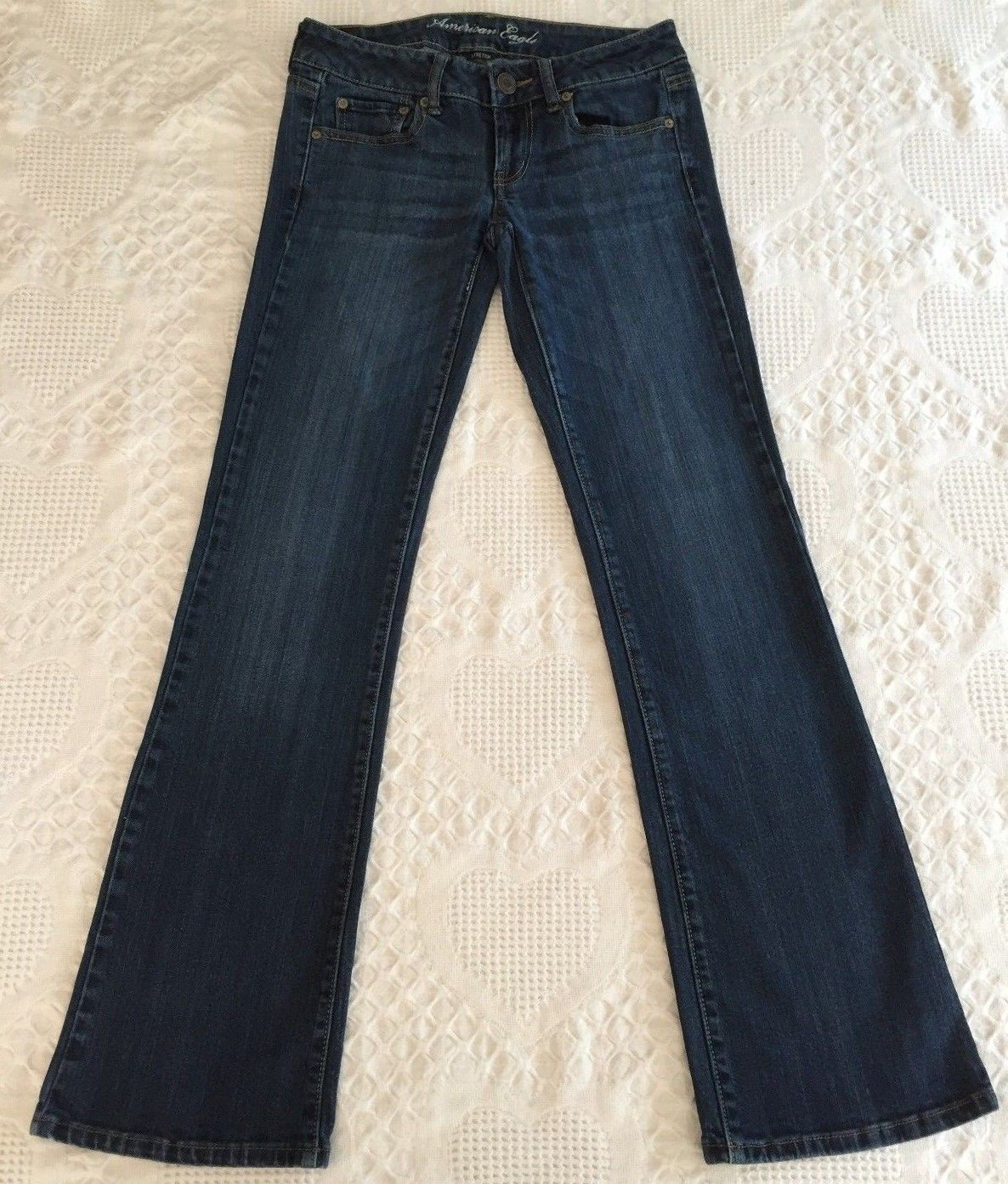 45cda1e6b2a857 AMERICAN EAGLE Women's Distressed Favorite Boyfriend Stretch Jeans Size 2  29x32