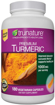 trunature® Premium Turmeric 1000 mg, 180 Vegetarian Capsules - $48.50
