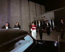 President John F. Kennedy and Jackie leave National Guard Armory New 8x1... - $6.61
