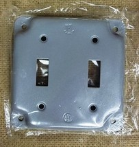 4in Square 2 Switch Cover Steel Great Deal - $5.26