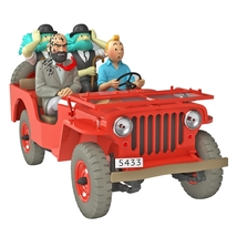 The Red Jeep in the desert Willys MB 1943 1/24 VOITURE TINTIN CARS Black Gold image 1