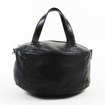 """Balenciaga Black """"Agneau"""" Lambskin Leather """"Round Air Hobo"""" Bag - $1,075.00"""
