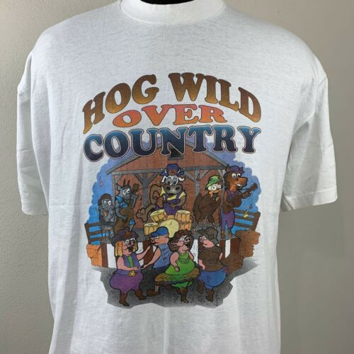Primary image for Vintage Hog Wild T Shirt Country Music Single Stitch Tee 80s 90s USA XL