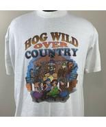 Vintage Hog Wild T Shirt Country Music Single Stitch Tee 80s 90s USA XL - $19.99