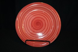 "Philippe Richard red SWIRL hand-painted crafted 8 1/2"" saladbread Plate replace - $49.95"