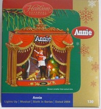 Carlton Cards Heirloom Collection - Musical - Lights Up - Annie 2004 - $77.59