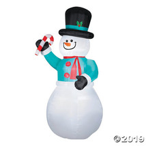 """72"""" Blow Up Inflatable Snowman with Candy Cane - $195.25"""