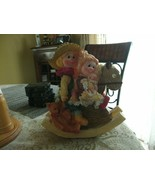 RR-20#19   Cute Resin Kids on a Rocking Horse Christmas Bank-Ornament Co... - $15.83