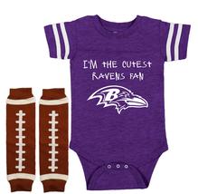 Baltimore  Ravens Onesie Bodysuit Jersey Cutest Fan - $22.95+