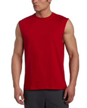 NWT Men's Russell Athletic  Cotton Crew Neck Muscle  Tee Shirt 4X Red - $5.45