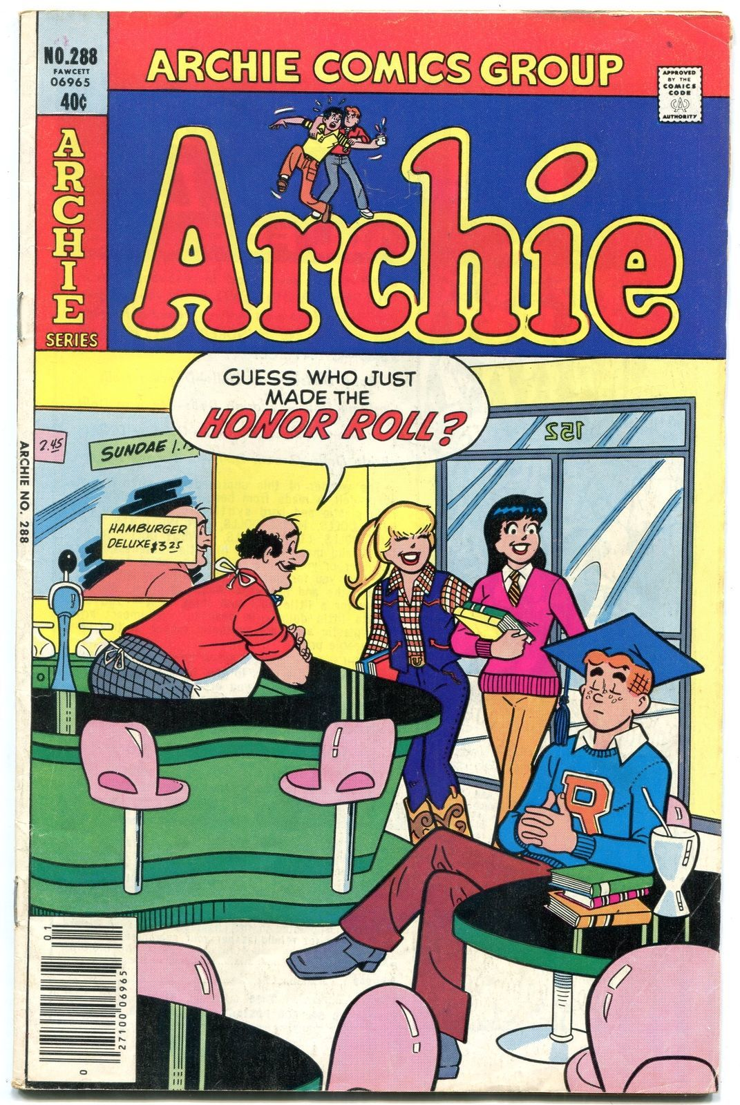 Archie Comics #288 1980- soda shop cover-Betty & Veronica fn