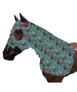 TEAL REAL OAK CAMOUFLAGE PRINT ZIPPERED HORSE SLEAZY HOOD LYCRA 900 - 12... - $38.90