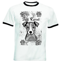 JACK RUSSELL TERRIER - NEW BLACK RINGER COTTON TSHIRT - $26.46
