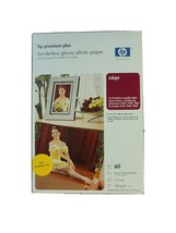 HP Premium Plus 4 X 6 High Gloss Photo Paper-Borderless 60 Sheets Sealed Q2502A - $21.95