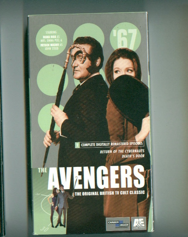 THE NEW AVENGERS #3 paperback book+VHS video Return of the Cybernauts/Death Door