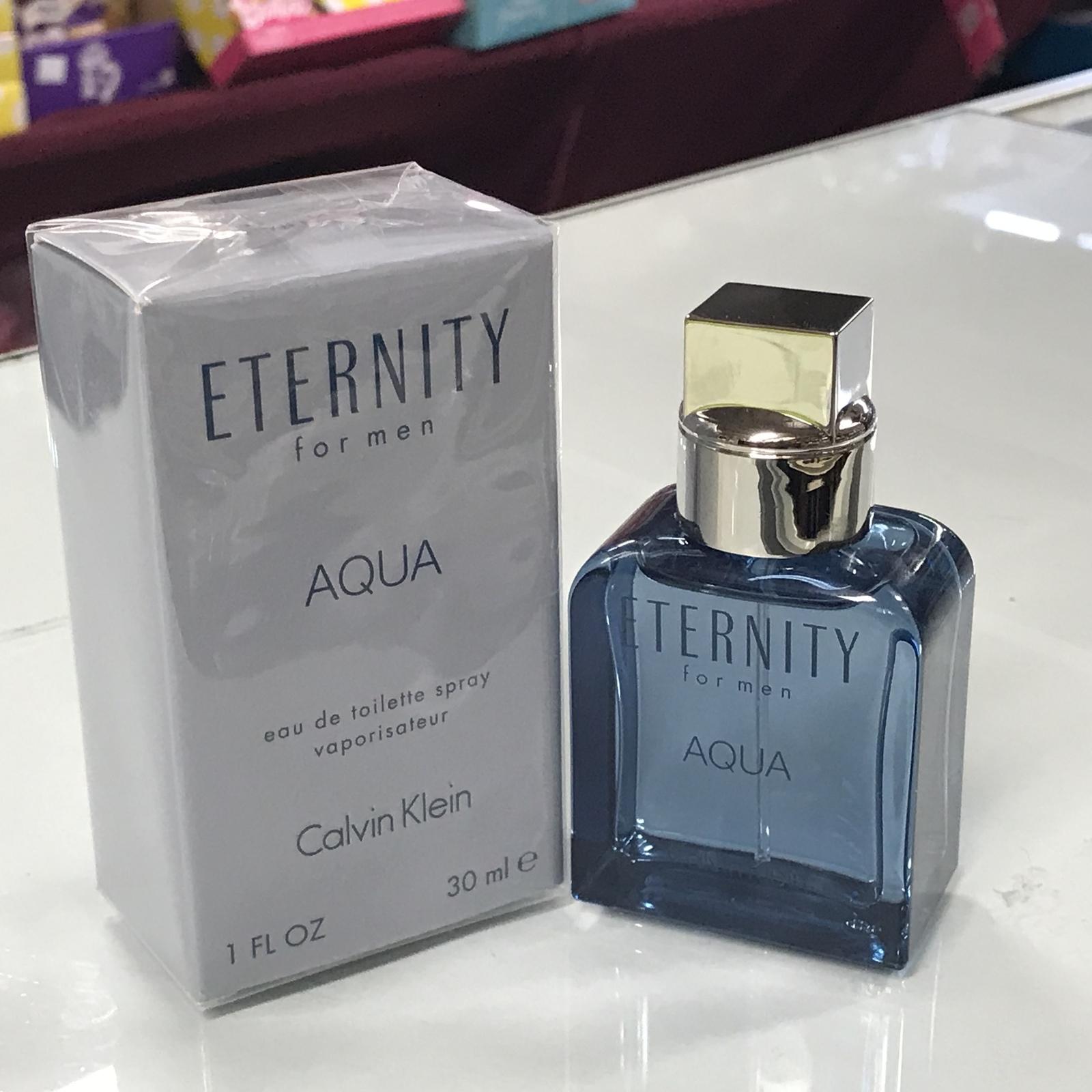 Eternity Aqua Calvin Klein for Men, 1.0 fl.oz / 30 ml eau de toilette spray