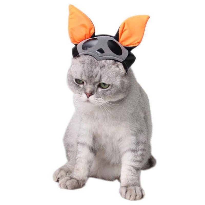 Cute Cat Witch Costume Caps Halloween Pet Hat Magic Hat Pet dog party decor