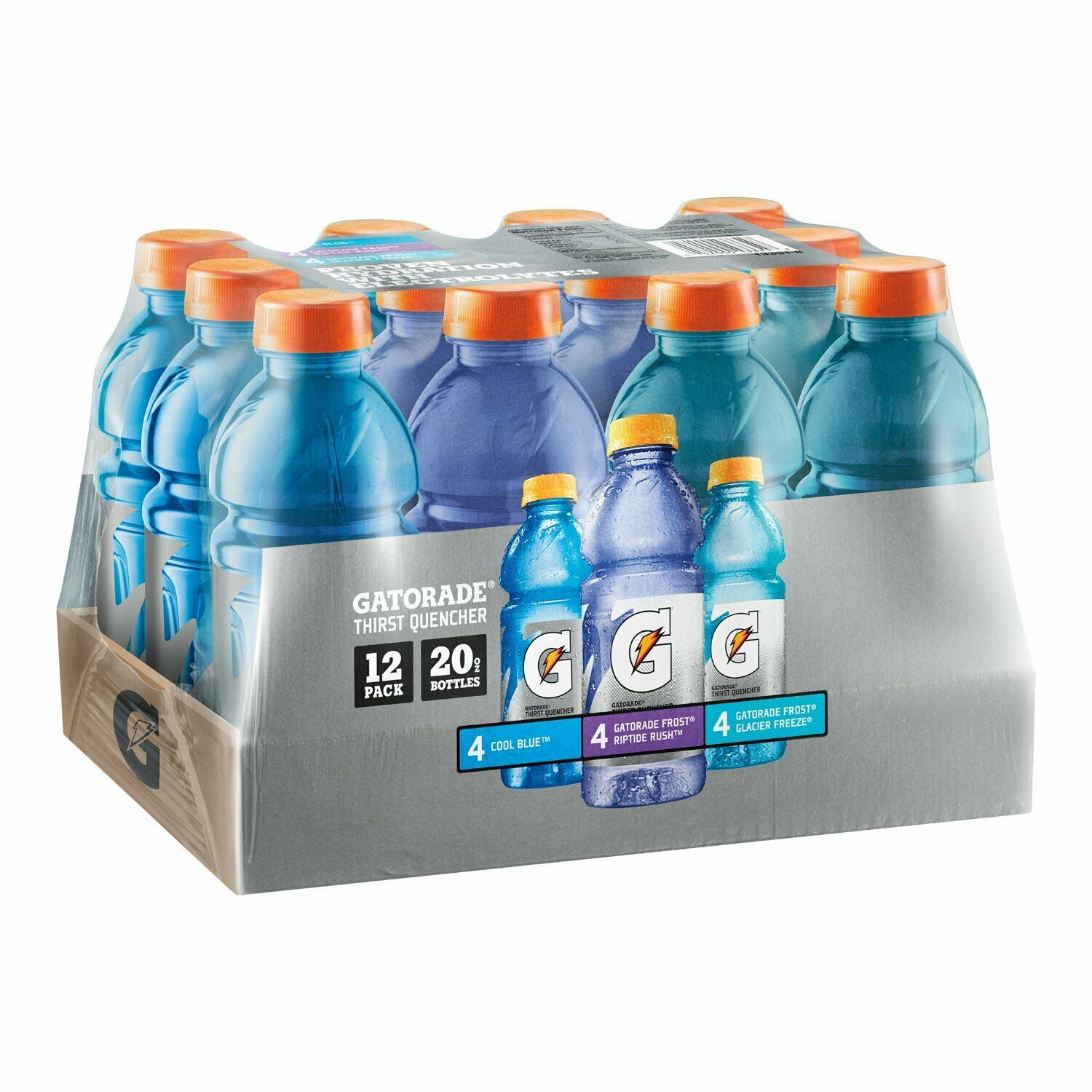 Primary image for Gatorade Frost Thirst Quencher Variety Pack 20 Ounce Bottles Pack of 12