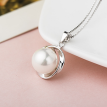 Fashion Women Sterling Silver Shell Pearl Pendant image 3
