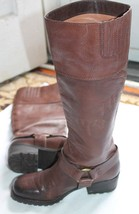 Lucky Brand Harness Boot Women US 6 Brown EU 36 Pre Owned ABENI - $27.72