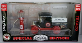 Texaco Petroleum Truck w/Gas Pump, Special  Addition Gearbox Toy Black & Red New