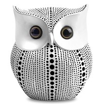 Owl Statue Decor (White) Small Crafted Buho Figurines for Home Decor Acc... - $20.53