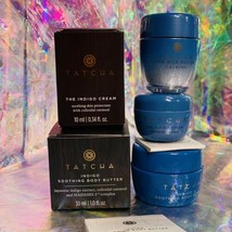 New In Box Tatcha Indigo Cream Body Butter Rice Polish Bundle Great For OnTheGo