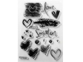 """Close to My Heart """"Smitten"""" Clear Cling Acrylic Stamp Set #C1217"""