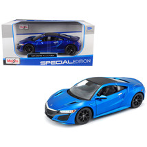 2018 Acura NSX Blue with Black Top 1/24 Diecast Model Car by Maisto 31234bl - $23.99