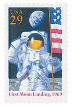 1994 Moon Landing US Postage Stamp Catalog Number 2841a MNH