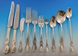 Chippendale Old by Alvin Sterling Silver Flatware Set for 12 Service 206 pieces - $18,350.00