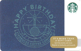 Starbucks 2017 Happy Birthday Collectible Gift Card New No Value - $4.99