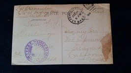 Postcard American Exp Force to Lucy Orr Alameda California Passed - Cens... - $16.80