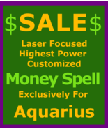 xb220 Sale Billionaire Money Spell Custom Ritual Aquarius Betweenallworlds  - $129.50
